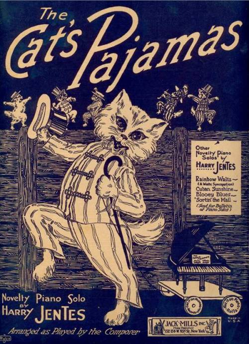The Cat's Pajamas. Harry Jentes. New York, NY: Jack Mills, 1922.via