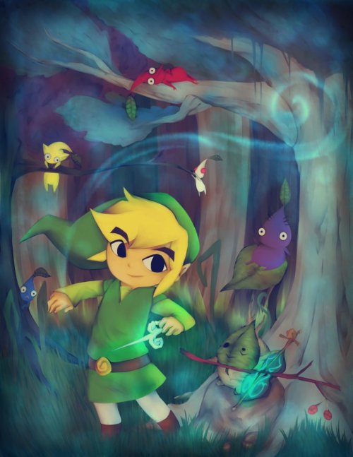 xombiedirge:  The Legend of Zelda and the Mysterious Pikmin by Suika Ibara
