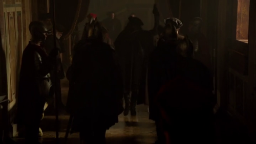 "Took this snapshot of Cesare being the commander of everything and everyone, going; ""Burn it!"" ,and it seriously looks like he's holding a gun in his hand…."