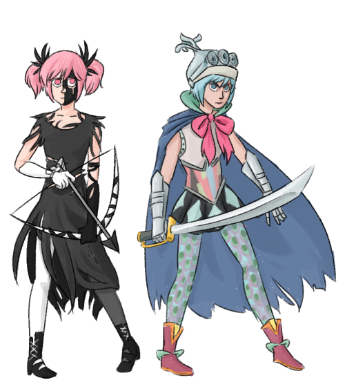 what if the magical girl outfits were based on their witches