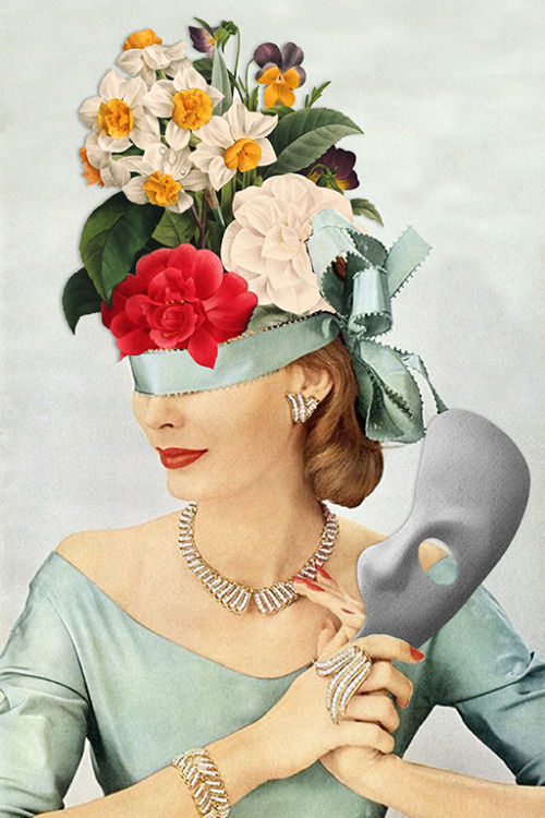 collage collage art flowers mask