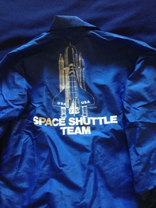 lightthiscandle:  bunnybundy:  Check out the legit 1978 Shuttle Team jacket that arrived at my house today! Now every time I go out when it's chilly, I'll look like I had something to do with STS-1 :) (Or not. Either way).  Ahhhhhhhhhhhh