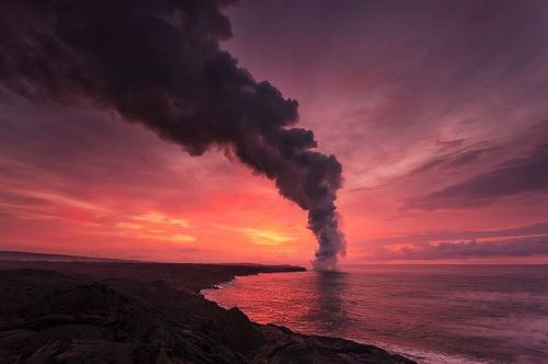 Morning lava rise