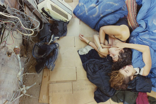 devidsketchbook:  Extraordinary photos of young hitchhikers and freight train hoppers by Mike Brodie Mike Brodie (tumblr | facebook) first began photographing in 2004 when he was given a Polaroid camera. Working under the moniker, The Polaroid Kidd, Brodie spent the next four years circumambulating the U.S. amassing an archive of photographs that would go on to make up one of the few, true collections of American travel photography. Having never undergone any formal training, he chose to remained untethered to the pressures and expectations of the art market.