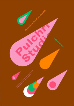 Pulchri Studio poster by Erik de Vlaam (Studio Dumbar). Found here.