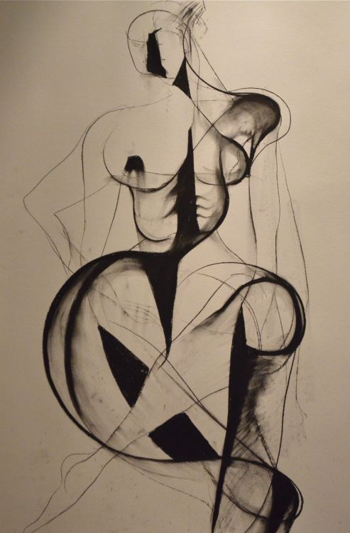 carmeljenkin-art:  Drawing by Carmel Jenkin Sit With Me Well, charcoal on paper, 81cm x 57cm There were many areas that I erased in this drawing due to dissatisfaction. However the history of those marks faintly remain. This piece will be available for purchase on Daily Painters May 21st. Facebook Page
