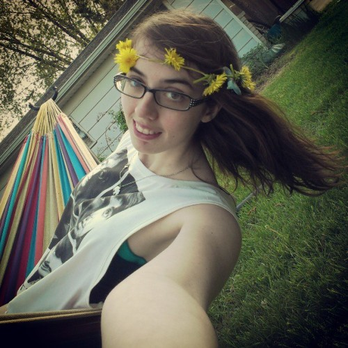 #flowerchild #beatles #hammock #summer #me #dandelions #lazyday