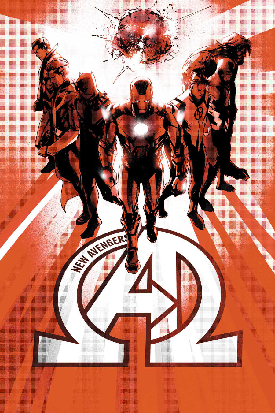 Marvel comics for 2013: this is the cover for New Avengers #6, drawn by Jock.