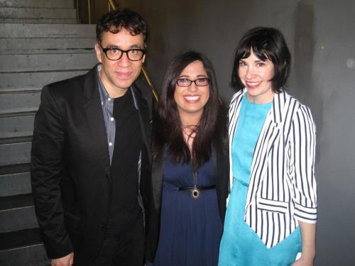 meghanrross:  Portlandia season 3 premieres tonight at 10 on IFC, like 10 minutes ago from when I will upload this. Portlandia is one of the funniest, most brilliant shows I've become hooked on in the past few years. I have a weird, long relationship with the show starting with when I reviewed the pilot for my internship at TV Without Pity (which I wrote up before I returned to campus after winter break and IFC ended up swapping the 1st & 2nd episodes when it first aired, so I technically reviewed the 2nd episode). I fell in love with the show, wrote another article about it for the BU Quad, wrote a Portlandia sketch for one of my UCB classes, and have attended every Portlandia-related event in the NY area since. That includes: a Conversation with Fred and Carrie interviewed by Julie Klausner at Paley Center a year ago this month, followed by the Portlandia Live Tour at Bowery Ballroom that same night (when my friend Andrea and I got the microphone during the Q&A portion and proposed to Fred and Carrie, like all 4 of us married in friendship, which they agreed to); the IFC Upfrontlandia last April (when I met them as seen above and also told them I was one of those weird girls who proposed to them, which Carrie said she remembered); the Portlandia conversation with Fred, Carrie, and director Jonathan Krisel during New Yorker Fest last November (when Andrea and I did a follow-up question and asked when the wedding was and they said they remembered us again and to plan it and they'll show up); and finally, the IFC Portlandia Season 3 Premiere Party (when I geeked out to a bunch of my comedy heroes and also reminded Fred again that I was one of those weird girls that proposed to them). Weirded out yet? I'm also going to see them later this month at a Times Talk for another Portlandia Live event with Fred, Carrie, and Jonathan Krisel interviewed by one of my favorite NY Times reporters, Dave Itzkoff. You don't have to be as obsessive as a fan as I've become to enjoy it though. But you might become one if you start watching it. So watch it, or just live a life of regrets and disregard for great TV shows, I dunno, maybe you like teen dramas more.  This lady should probably take over our Portlandia tweets one week, eh?