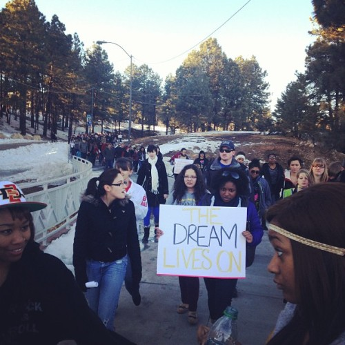 """The dream lives on"" #nau #flagstaff #mlk"