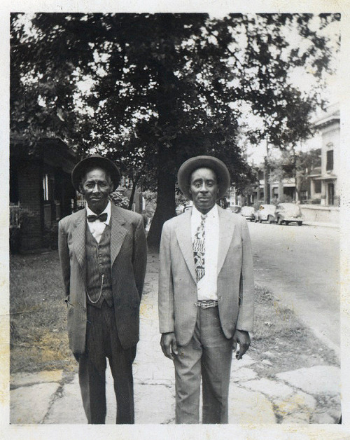 Daddy & Uncle Mo 1940's [Mouton Family Album] ©WaheedPhotoArchive, 2013