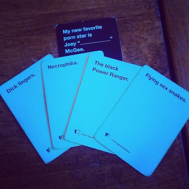Most difficult decision ever. #cardsagainsthumanity