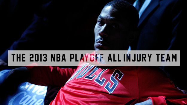 The 2013 NBA Playoff All-Injury Team The Miami Heat are coasting through the 2013 playoffs and it's not just a testament to how good they are; they've also been very serendipitous with the best players from opposing teams have gotten hurt left and right. And considering that were are the tail end of the NBA awards season where players, coaches, and managers alike are awarded trophies for their achievement, it is only fitting that we—in awards season fashion—celebrate those who are not currently with us on the court. Here are five players who have succumbed to the injury bug, hereby dubbed the 2013 All-Injury   Read More »