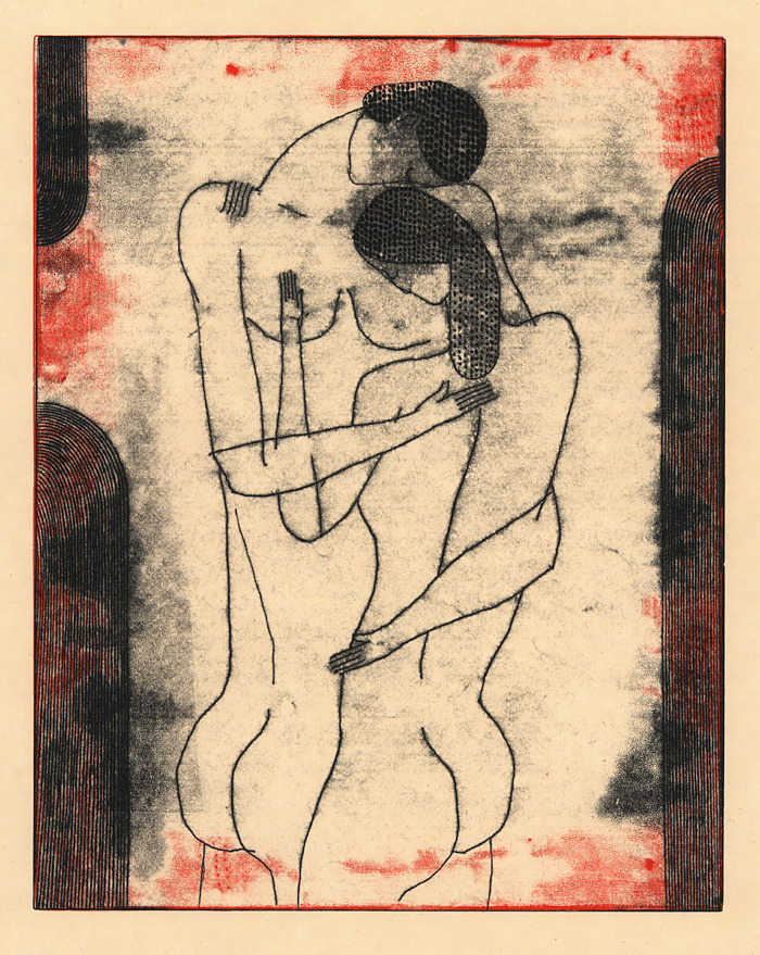 nearlya:  Richard Downs. Couple #178, monotype, 2011