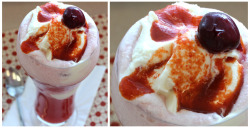 "Sriracha Soda Float recipe from Trader Joe's This milkshake will definitely bring all the boys to the yard. The simple recipe mixes black cherry soda, fresh orange juice, morello cherries, French vanilla ice cream, and ""TJ's Sriracha Sauce."" Wait… Trader Joe's has their own private label Sriracha sauce?! Since when?! Get the recipe here: Sriracha Soda Float"