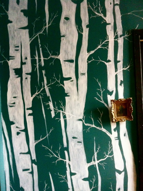Birch trees wall art