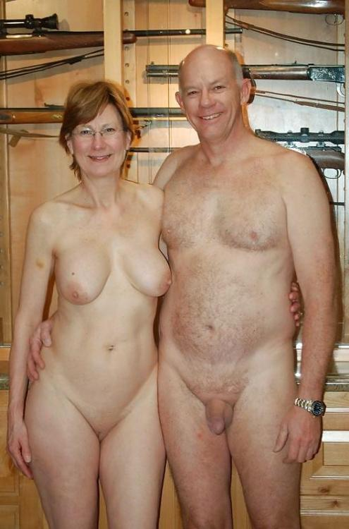 detholman:  Great picture of a nudist couple and I also love the gun collection in the background.  Gave it a down home appeal to me.