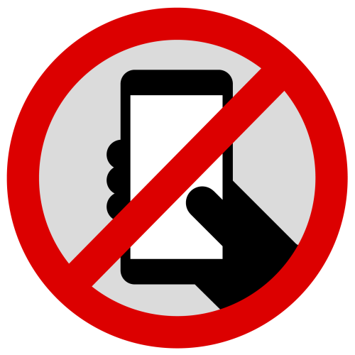 "bbbrad:  timoarnall:  No smartphones symbol. Traditionally 'no phone' signs have meant no phone calls, but there's a new predominant cultural use of phones, which is poking at the internet through touch screens. We should be able to address this behaviour too if we need to, in cinemas or theatres for example. Go ahead, download and use it: PDF / EPS / high-res PNG. No Rights Reserved: to the extent possible under law,  Timo arnall has waived all copyright and related or neighboring rights to the 'No smartphones symbol'.  Perfect. Just because you aren't actively on the phone doesn't mean your face being buried in a glowing screen all evening isn't an asshole move. But, it's also how we live these days. A reflection on the power we get from the rectangle of glass that have become ubiquitous in our culture. Nearly all daily tasks can now include the step ""remove phone from pocket"".   I feel strongly about this too. It makes me sad to see a table full of people at a bar starting at their phones and not engaging each other when they're sitting right cross from one on another. It would do us all well to make it more of a practice to just leave our phones in our pockets or bags once we sit down with friends so we can actually be present and participate in real life."