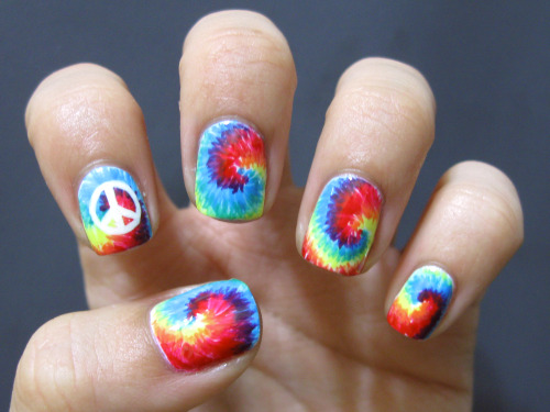 Tiedye nails! <3~ Tutorial coming soon.