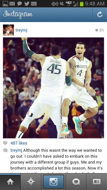 Great message from Trey McKinney Jones on his Instagram account this morning.