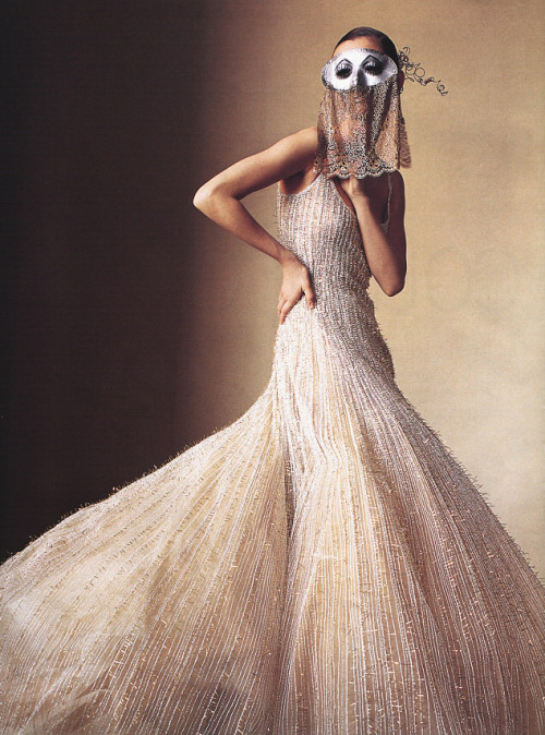 "Maggie Rizer in US Vogue, April 2000 ""How To Wear Couture"" by Irving Penn"