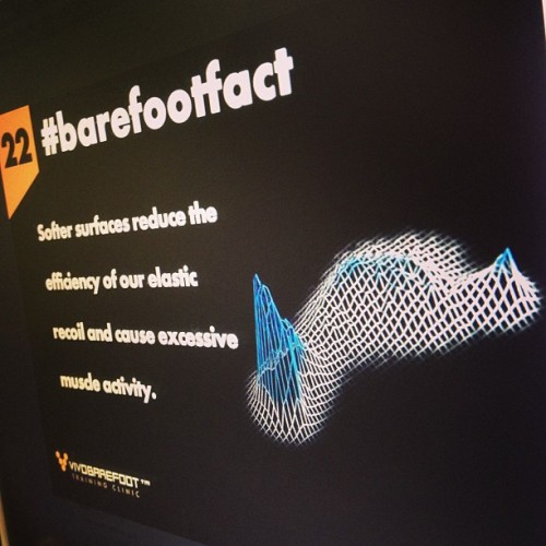 The better the feedback, the better the movement  #barefootfact 22 Softer surfaces reduce the efficiency of our elastic recoil and cause excessive muscle activity. http://www.vivobarefoot.com/barefoot-facts