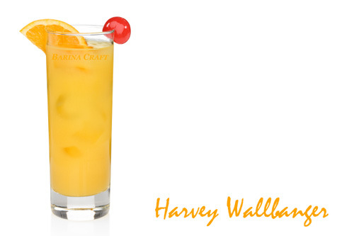 Harvey Wallbanger Drink Recipe - Surfer Staggers Cocktail Lore