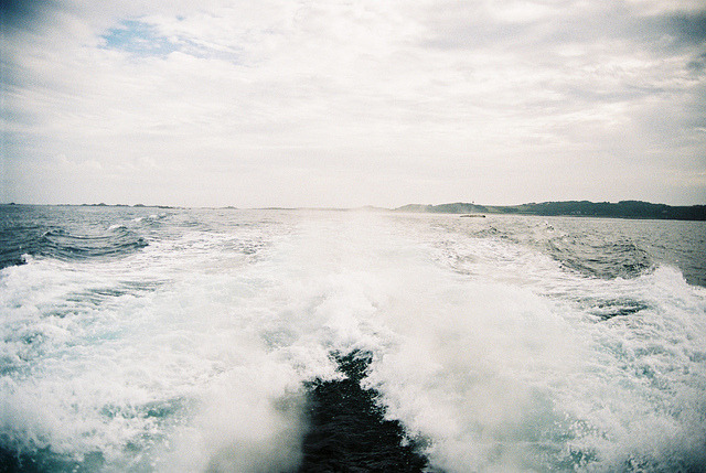trails from the ferry by chevy imp4la on Flickr.