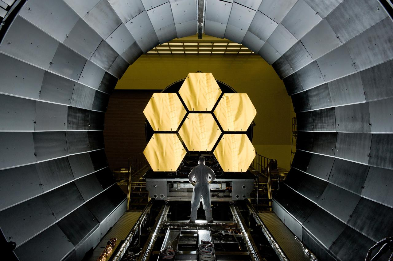 The James Webb Space Telescope primary mirror, post-assembly.