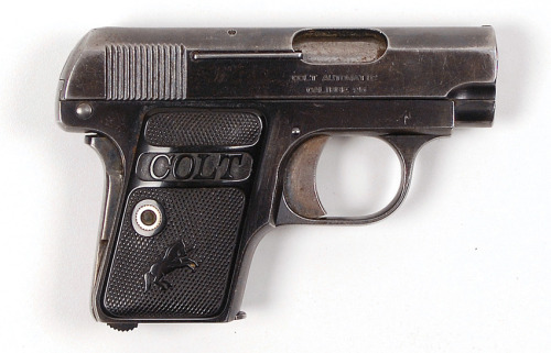 A Colt Model 1908 cal. .25 ACP Vest Pocket Semi-auto pistol owned by Al Capone.