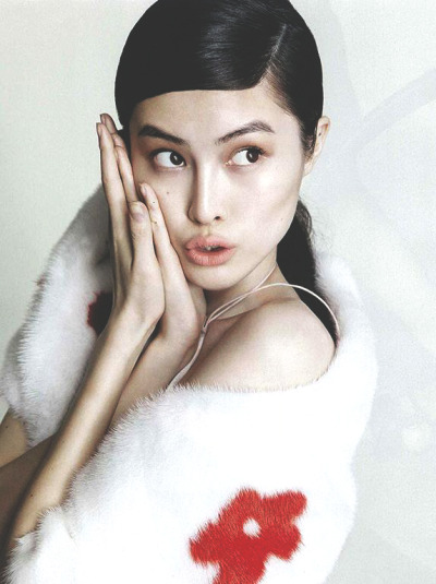 somethingvain:  prada s/s 2013, sui he for elle china march 2013