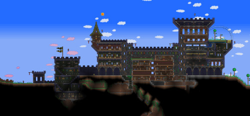 HOLY CRAP! My house in Terraria is SO damn noob compared to this. Lol