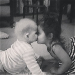 Eskimo kisses #myfamily #isntshelovely #cousins