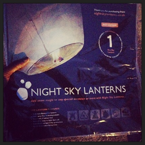 About to shoot these up in the night sky for the final scene #LetGoMusicVideo