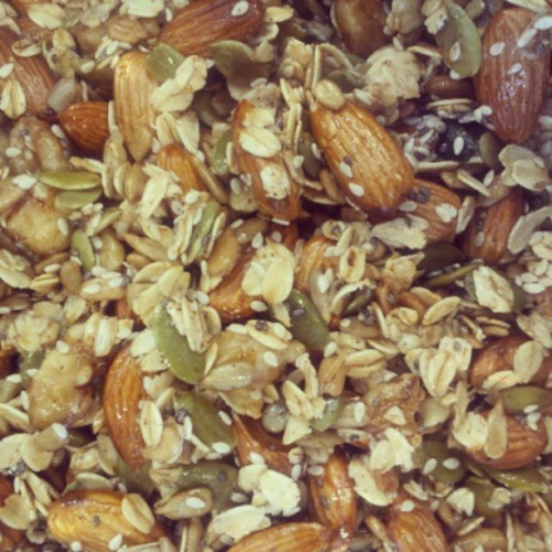 Mom made homemade #granola, no sugar at all. #preworkout anyone? #food #healthy
