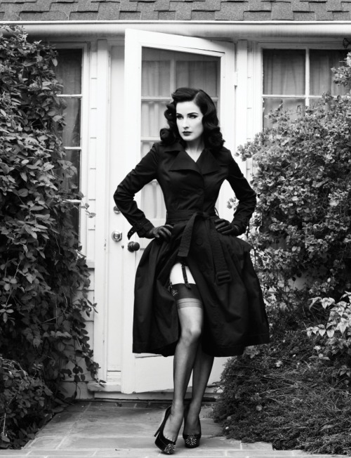 Dita Von Teese photographed by Naj Jamaï for Flaunt Magazine.