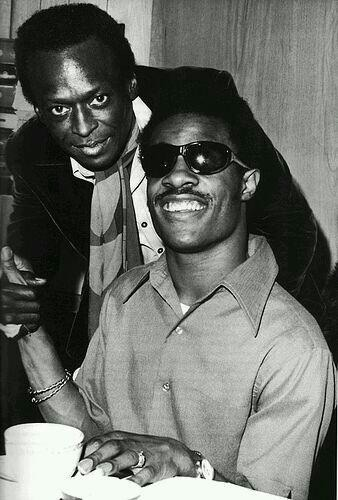 littlemisssoul:  Miles & Stevie