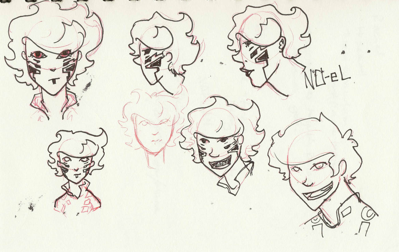 some noel sketches, and an anon