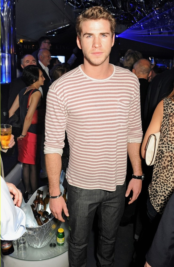 Liam Hemsworth attended the Belberdere Party on Friday at Cannes Film Festival 2013