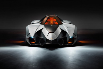 "The real life bat-mobile.  ""It's made of carbon fiber and aluminum, using aeronautical-spec anti-radar material, as well as anti-glare glass. The car houses a powerful 5.2L V10 engine that can generate up to 600 bhp. The car also doesn't have any doors, instead opting for a hatch that opens upwards."" (via Lamborghini Designs A Batmobile For Their Anniversary - PSFK)"