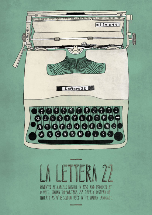 Olivetti Lettera 22 (via Italian Inventions | Emily Isles: Graphic Design) Prints available!!