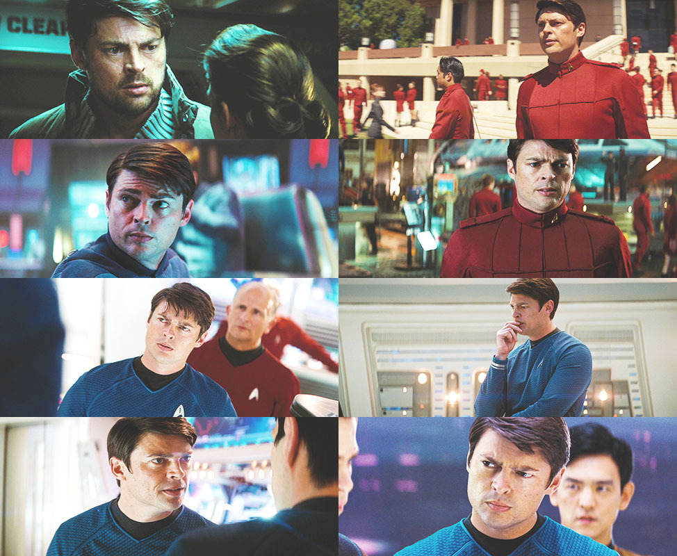 "motherfuckingriverrun:  Star Trek → Karl Urban as  Dr. Leonard ""Bones"" McCoy  ∟ ""Well congratulations, Jim, now we've got no captain and no goddamn first officer to replace him."""