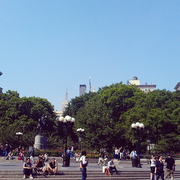 Time to chill out for a little while at Union Square Park