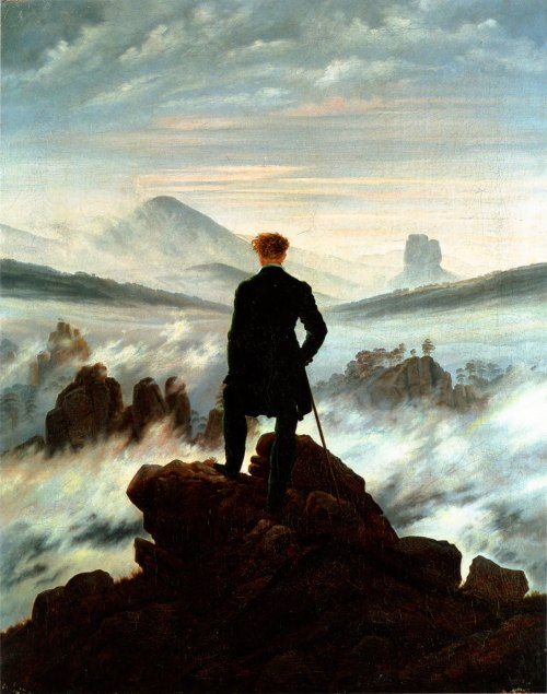 gemmasguidetoart:  Wanderer Above a Sea of Fog. Caspar David Friedrich. One of my favourite artists.
