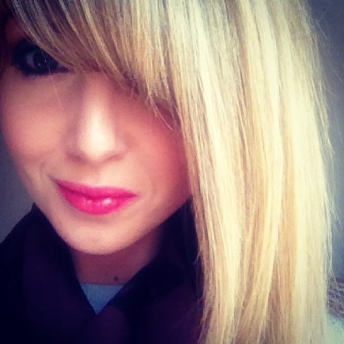 "Fringe growing report…. ""Hair today grown tomorrow""  #blonde #fringe #bangs #booms"
