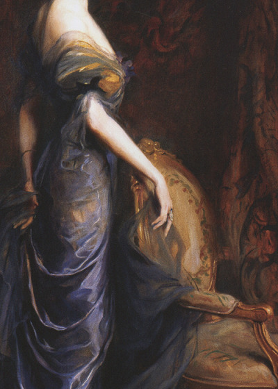 Philip de László, Mrs George Sandys (detail), 1915