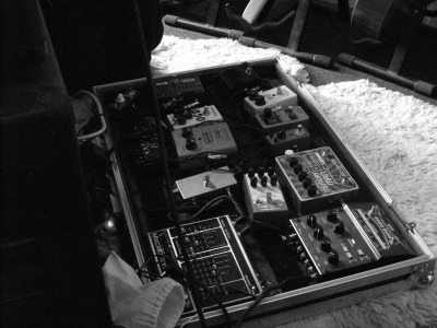 My pedal board's a bit of a mess these days.