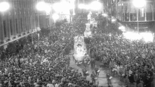 Three Wise Men Parade (Cagalgata de Reyes) in Sevilla, Spain, 1964.