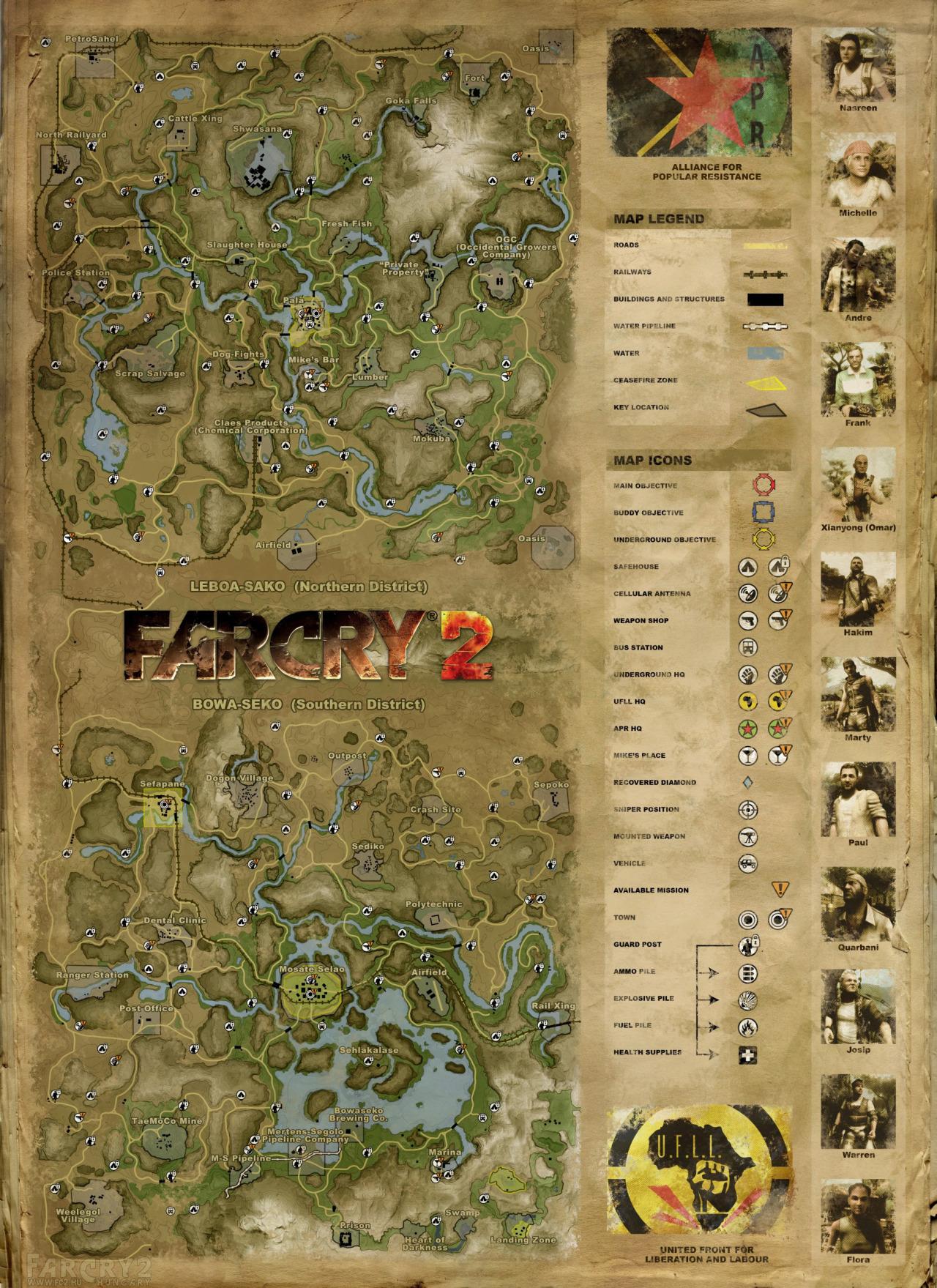 Far Cry 2 Map [GoG edition(goodies)] : imaginarymaps