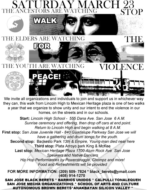 anakbayansv:  3/23: Stop The Violence! March in SJ  Do this Saturday morning right by marching with Anakbayan Silicon Valley, the Black Berets of San…  View Post